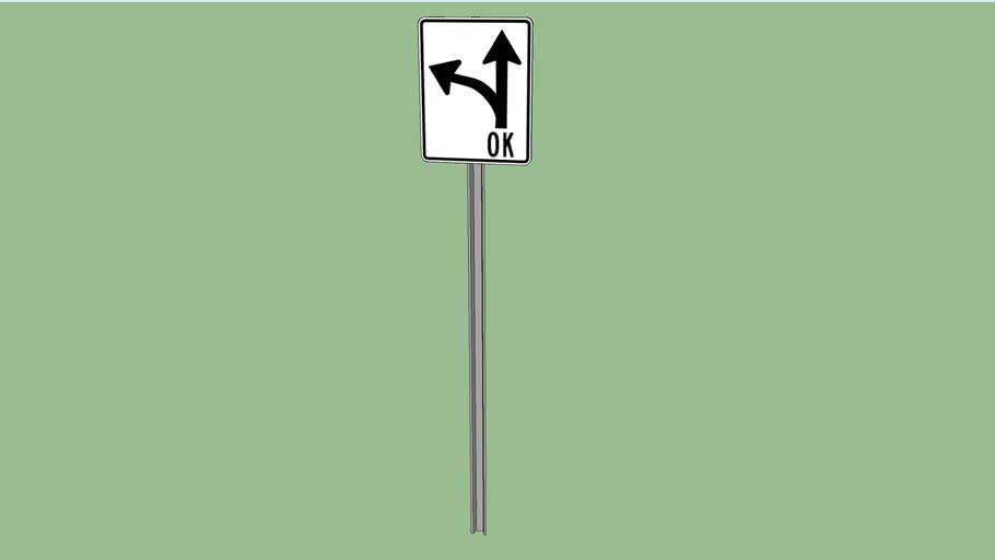 Left or straight ok sign
