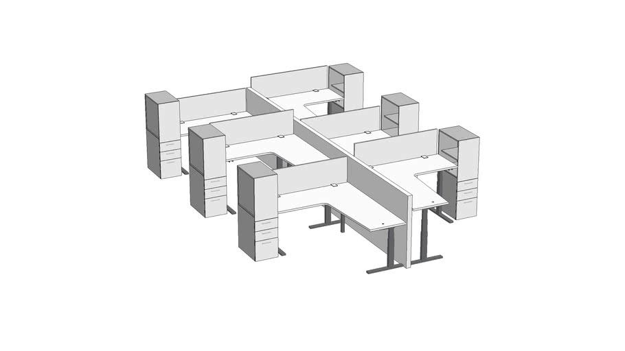 Watson Seven Crank Open Plan 6-pack 6' x 6.5' #OPNSE010