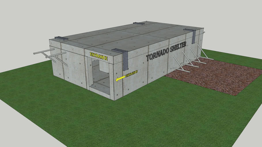 Tornado Shelter with Exercise bars