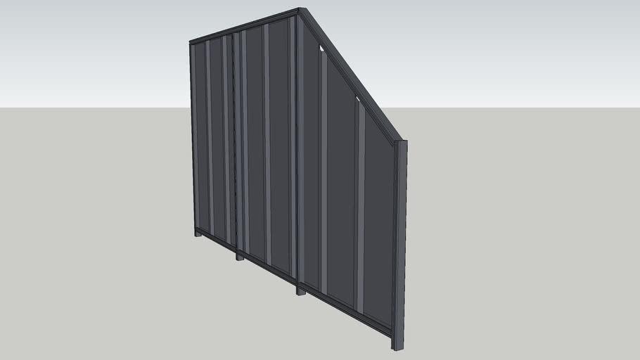 Colorbond Fence angle