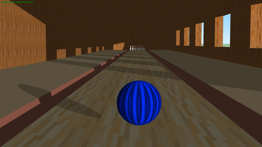 A bit different way of bowling (SketchyPhysics)