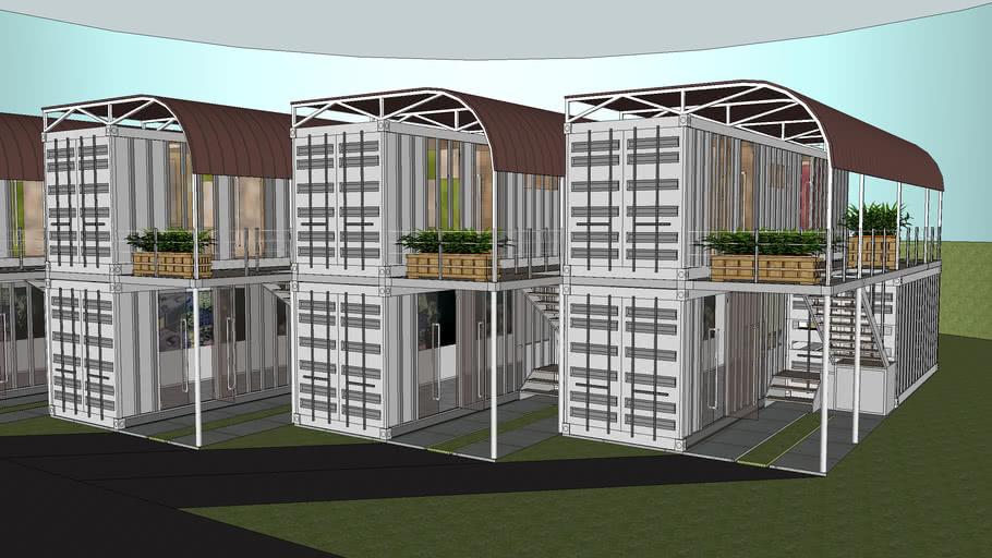 2x40ft 1x 20ft terrace community
