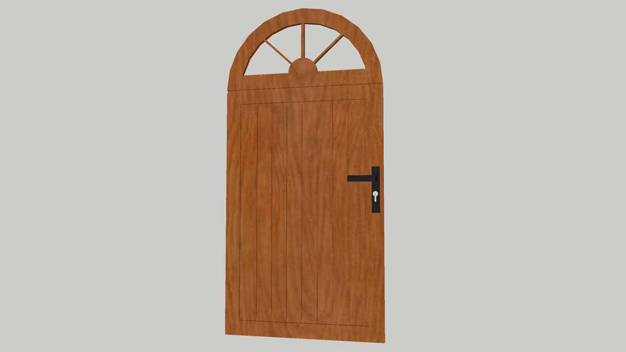 Porte exterieur bois