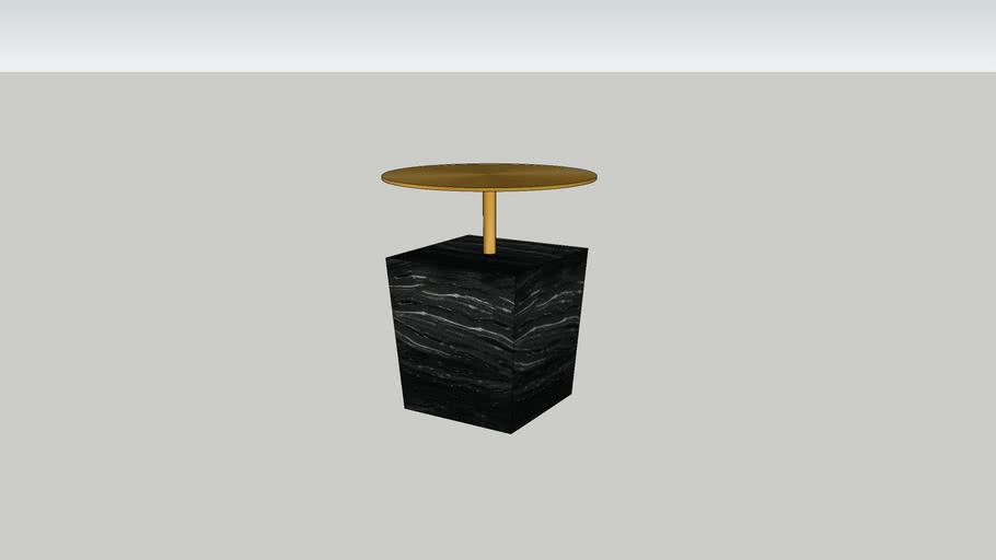 Gold Table D Appoint Carree Marbre Dore Habitat 3d Warehouse
