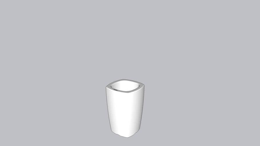 Bac/ Pot pour plante 60cm Carré POETIC
