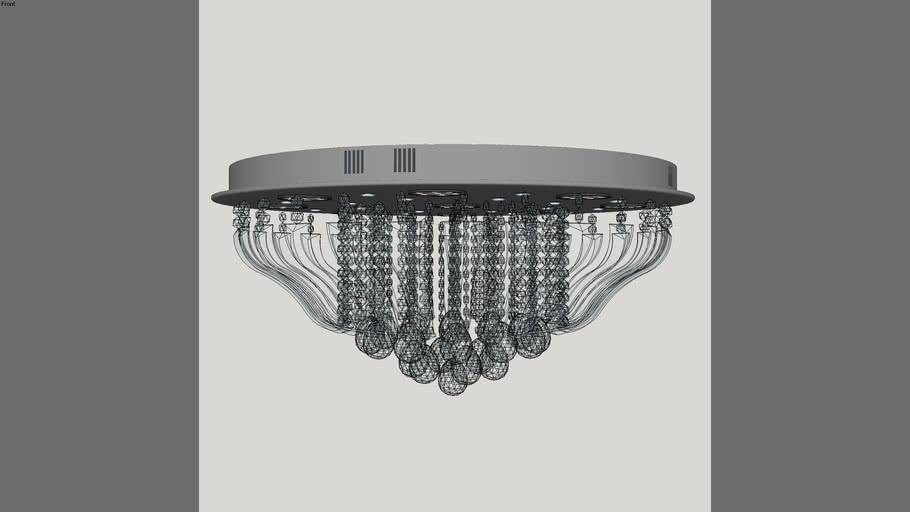 Plafon de Cristal LED com Controle Remoto 9 Lâmpadas CO