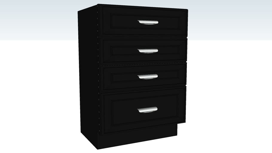 Vanity Base Four Drawer