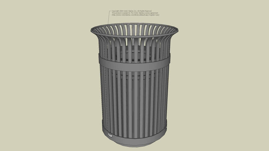 S-42 Ironsites® 36-Gallon Litter Receptacle with Liner