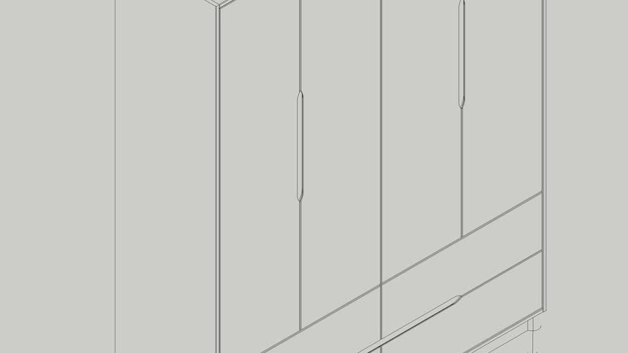 Armário 4 portas Tomi Ref 23400
