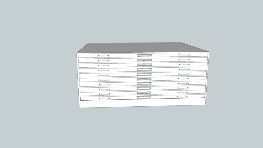 flat blueprint storage cabinet