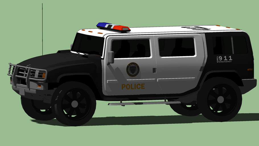 Mammouth Patriot 'LSPD' GTA 5 Edition | 3D Warehouse
