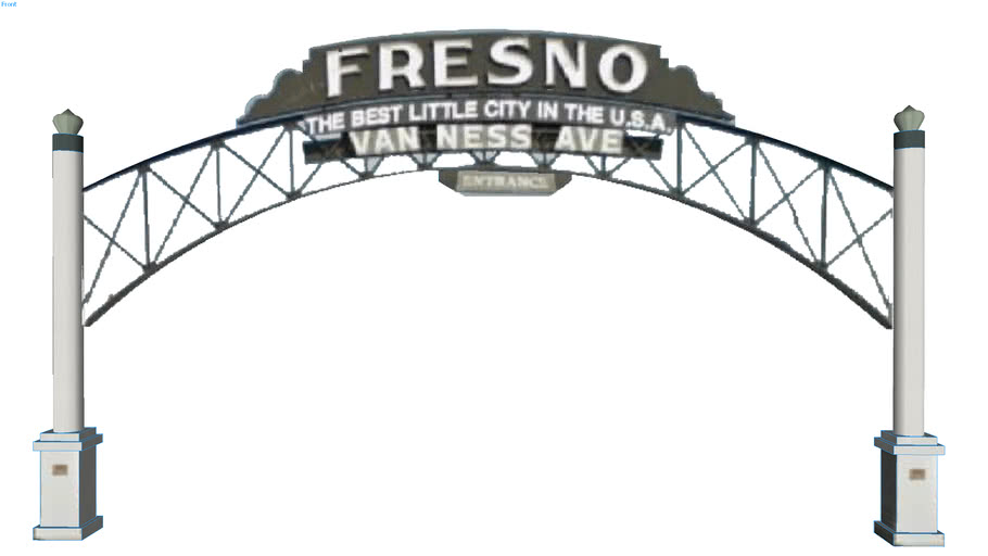 Van Ness Ave sign in Fresno, CA, USA