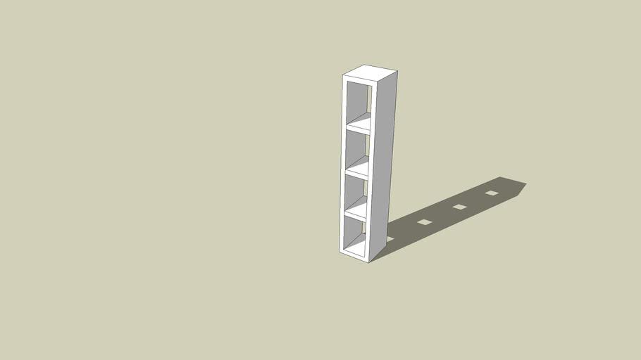 Ikea Tv Meubel Open Kast.Ikea Lack Open Kast 3d Warehouse