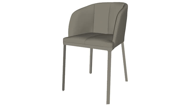 Super Como Dining Chair In Dove Gray Eco Leather By Modloft 3D Andrewgaddart Wooden Chair Designs For Living Room Andrewgaddartcom
