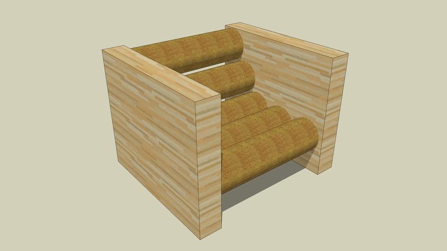 Foam roll chair