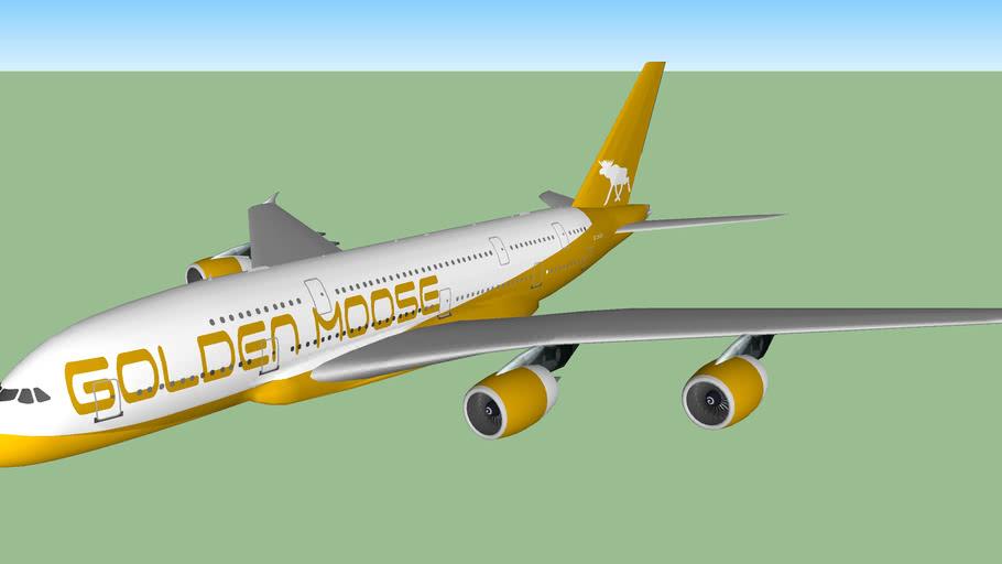 Golden Moose Airways A380-842 (2013)