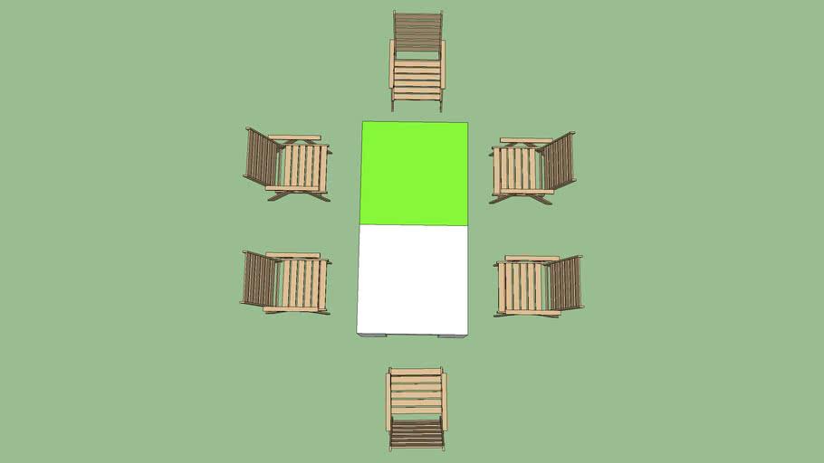 6人座桌椅