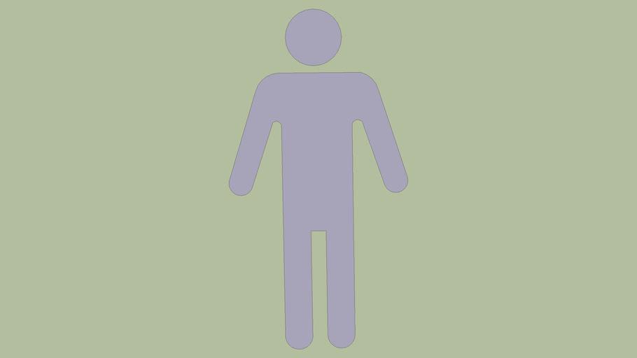 men's bathroom symbol