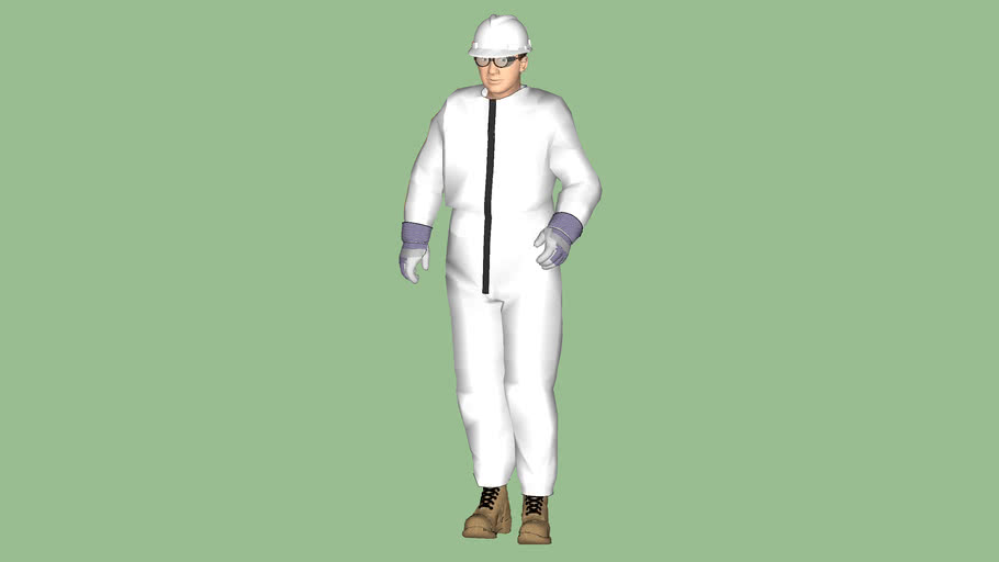 """Safety First Series - Process Operator - OSHA Level """"D-5/1"""" PPE Protection - Tyvek Coverall - White"""