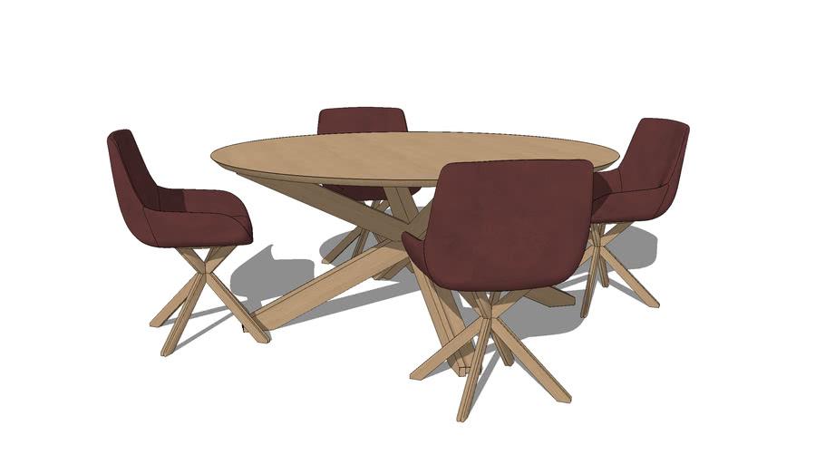 Table ronde et chaises