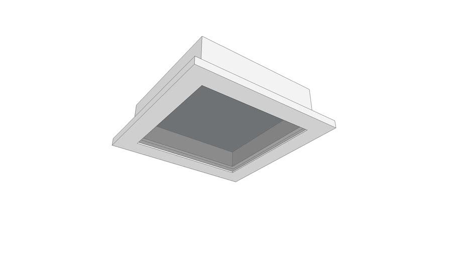 Plafon de embutir Led Quadrado Slim 10x10
