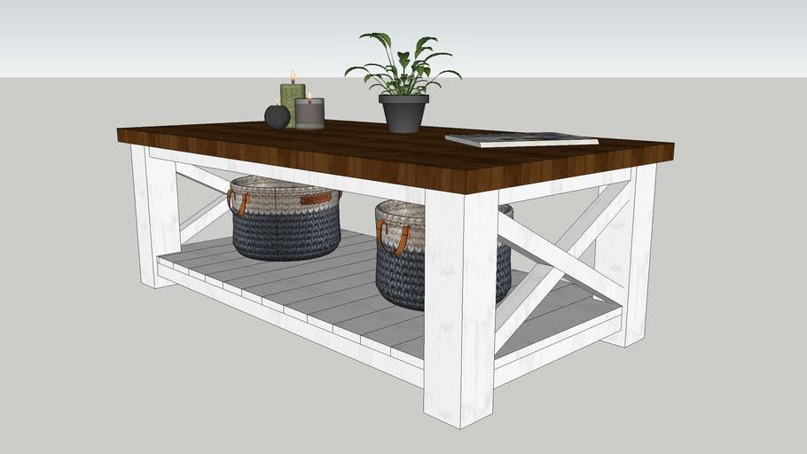 Rustic Modern Coffee Table W X Braces