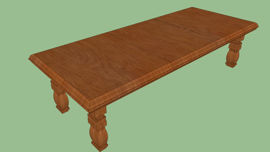 Cherry Wood Large Dinning Room Table