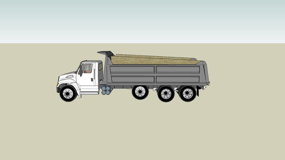 Dump truck with pindle hitch
