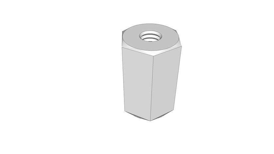 standoff, hex, aluminum, 0.25-20 x 1, McMaster-Carr 91780A212