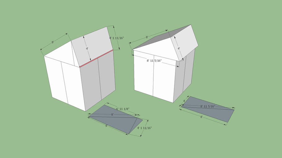 Wedge Block or Wedge Cube Shelter from Hexayurt inspiration -2 Types Design by Cabinz & Dylans model