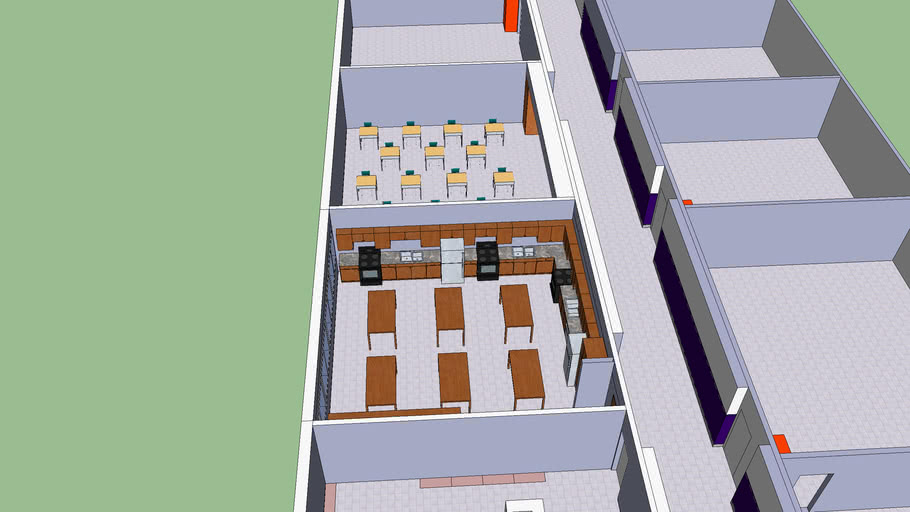 Model of School, 2 elevations