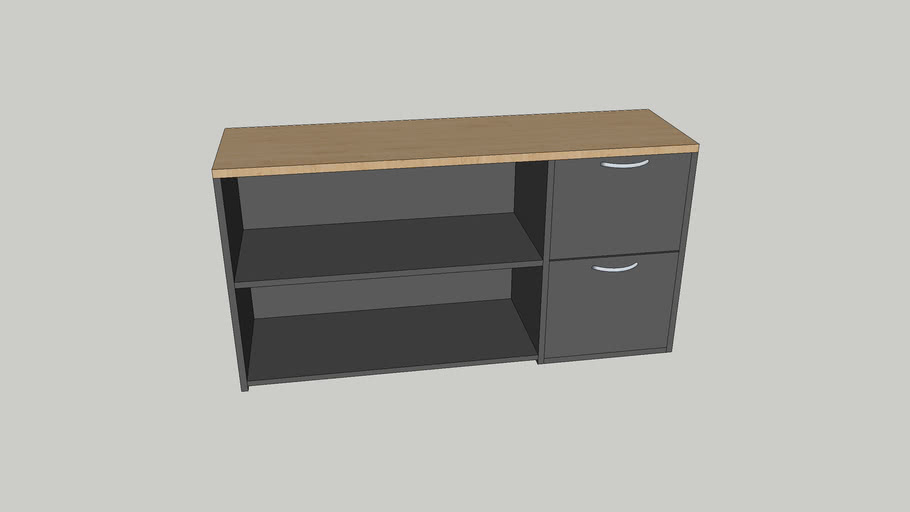 Office Shelves with 2 Draws