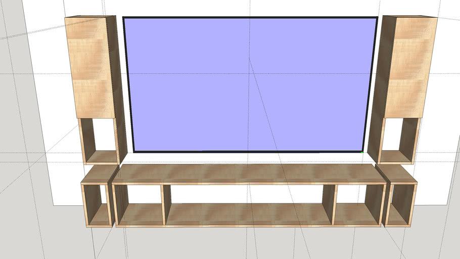 MEUBLE TV SUSPENDU TV SAMSUNG 75 POUCES QE75Q70T