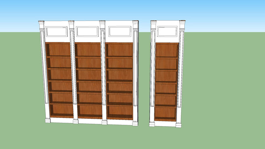 Classic book case with columns