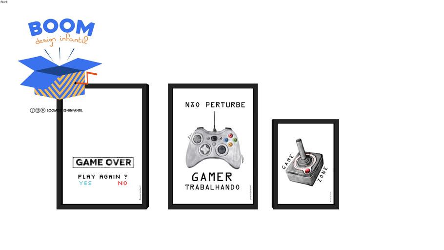 Composição quadro infantil - Gamer