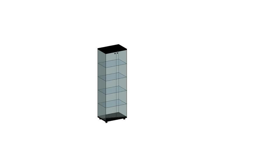 Vitrine colonne en verre trempé