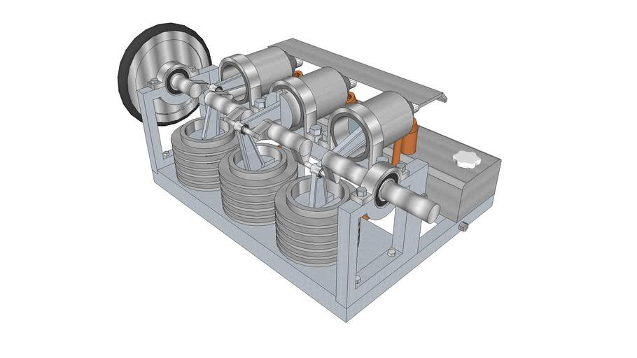 700w 3 cylinder Stirling engine