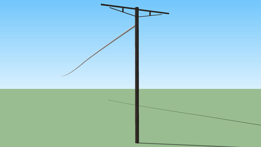 Telephone Pole- 150 Foot Wires