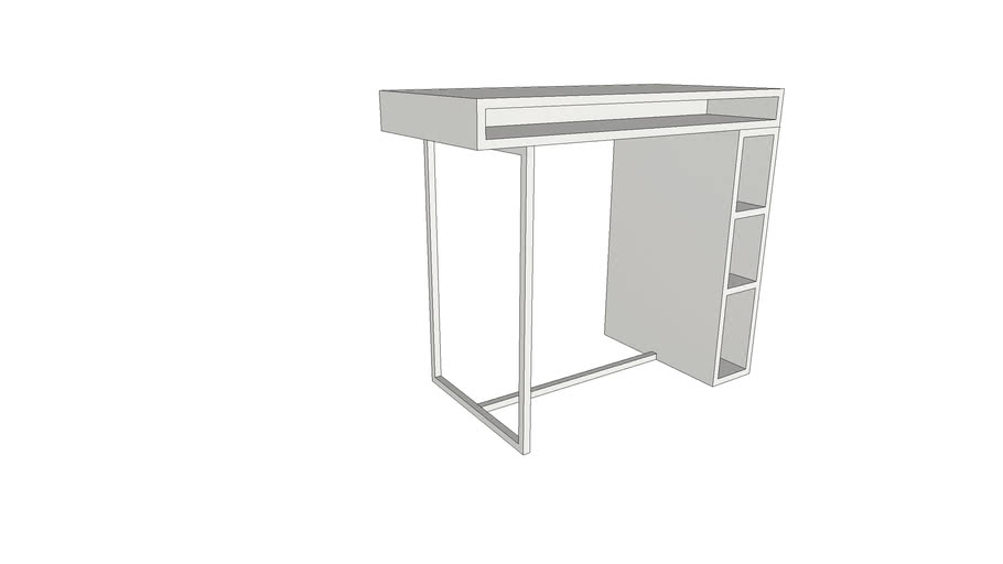Cb2 Public White 42 High Dining Table 3d Warehouse