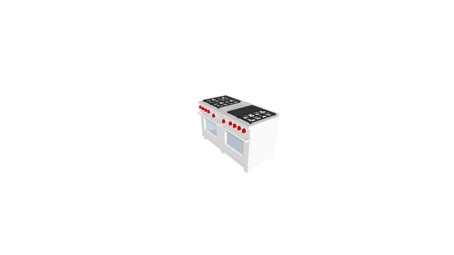 """Wolf DF606CG   60"""" Dual Fuel Range - 6 Burners, Infrared Charbroiler and Infrared Griddle"""