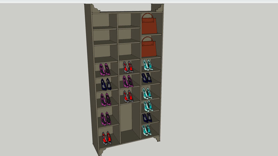 Ladies Shoe Rack Unit