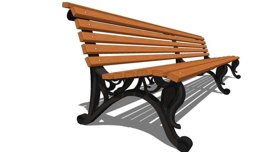 """Скамейка парковая """"Отдых"""" 3 секции  / garden park bench """"the Rest"""" 3 section"""