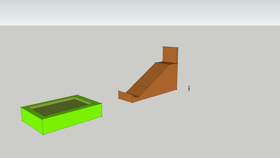 mega ramp to sponge pit