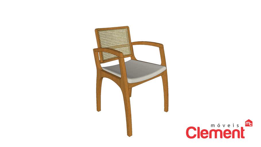 Cadeira Teerã C/Braço em Madeira Maciça