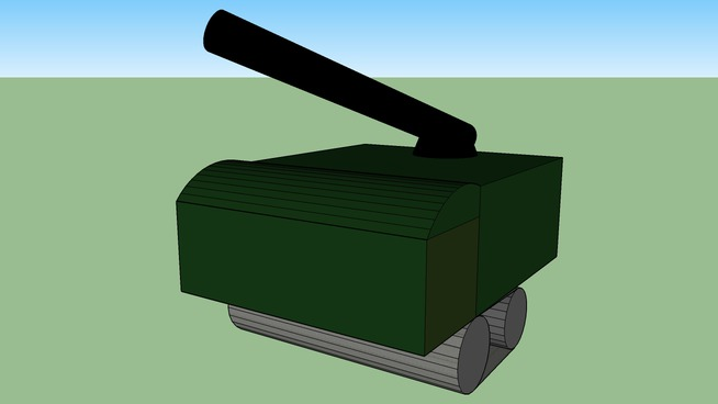 Tank with rocket luncher