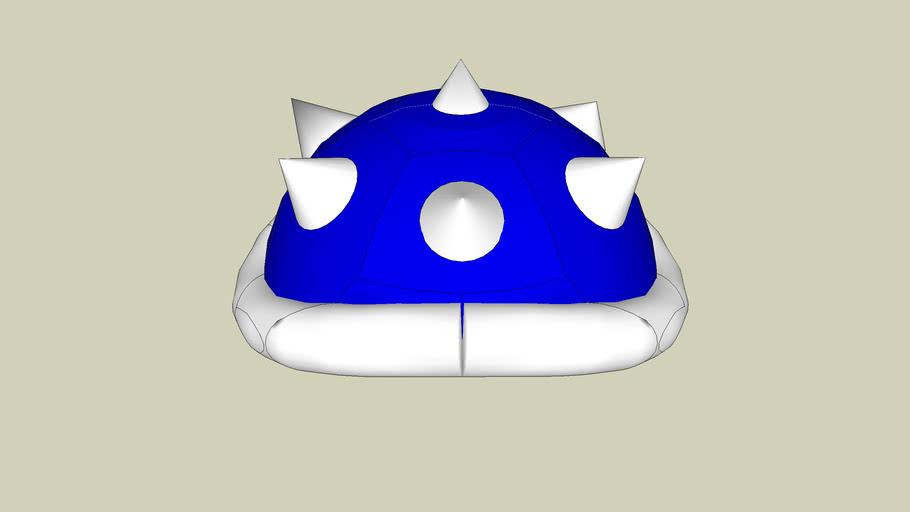 Blue Shell From Mario Kart 3d Warehouse