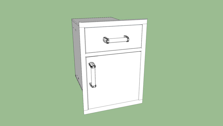 Fire Magic 54018S Pantry Door/Drawer Combo