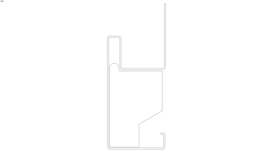 2D - 54707 3 1/2 in Foam Lineal
