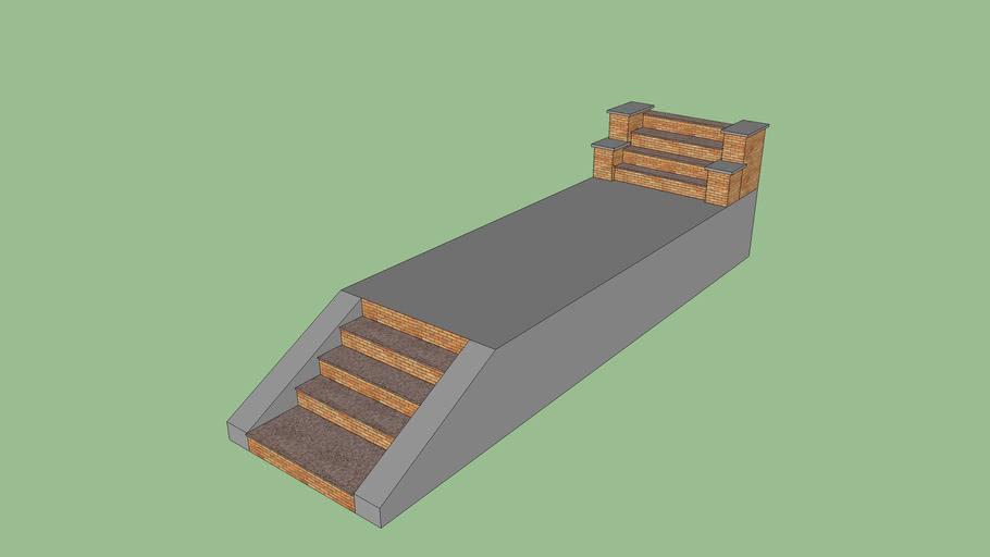 Outdoor Brick Stone Stairs