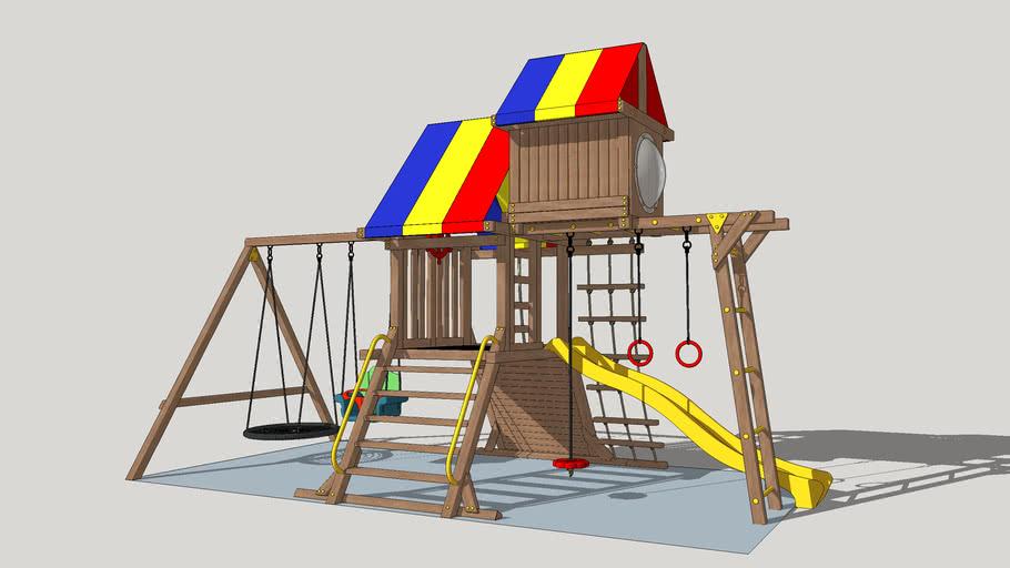Children's playground VikingWood Spartacus, Детская игровая площадка VikingWood Спартак